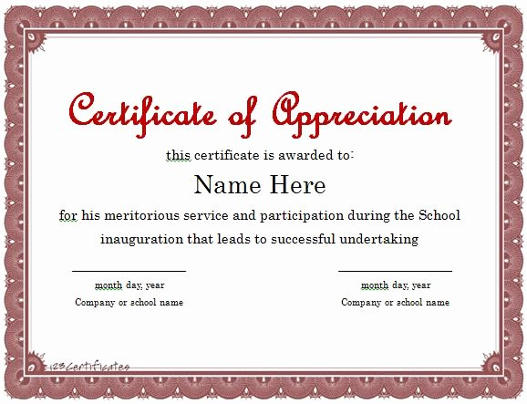 Letter Of Appreciation Templates Fresh 31 Free Certificate Of Appreciation Templates and Letters
