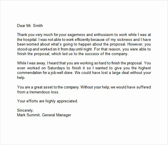 Letter Of Appreciation Templates Luxury Appreciation Letter 9 Free Samples Examples format