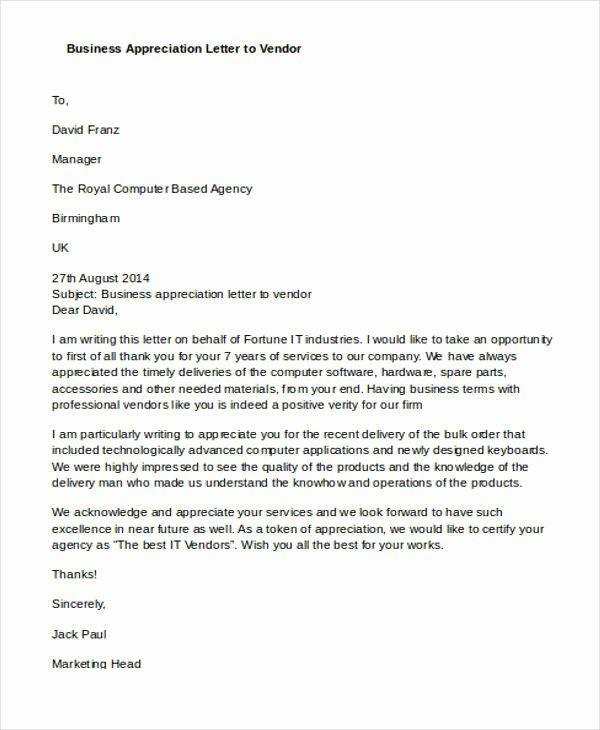 Letter Of Appreciation Templates Unique 19 Appreciation Letters In Doc