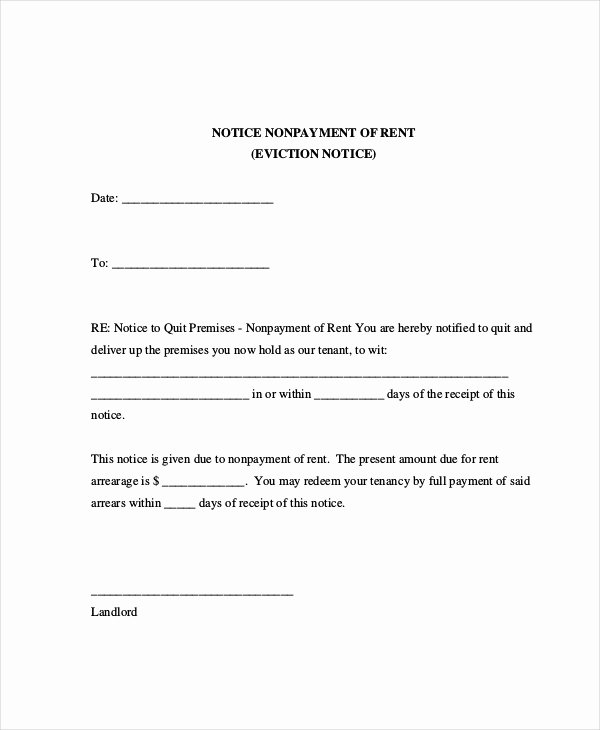 Letter Of Eviction Template Unique Sample Eviction Notice