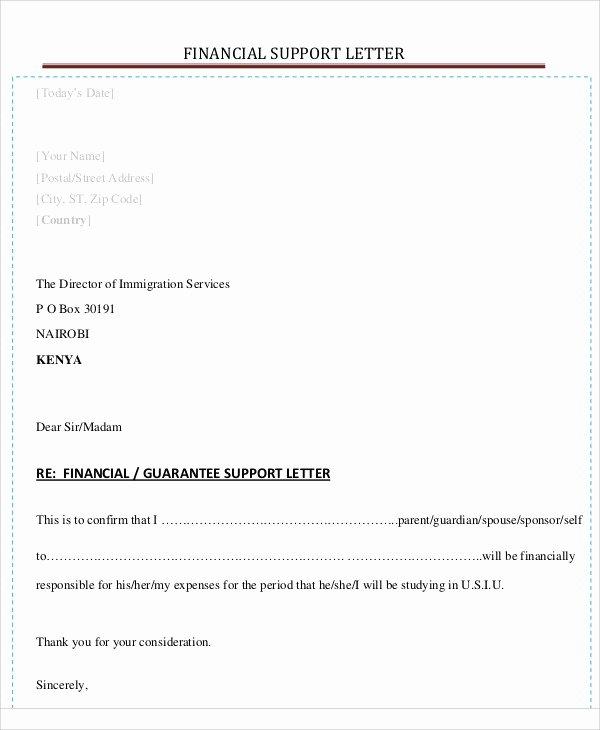 Letter Of Financial Responsibility Template Elegant 54 Guarantee Letter Samples Pdf Doc