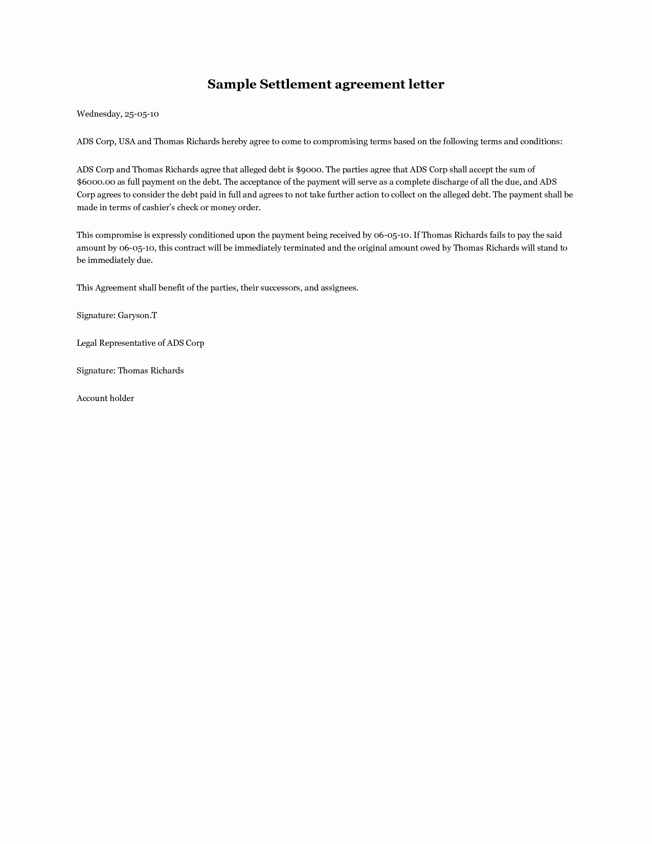 Letter Of Financial Responsibility Template Luxury Letter Financial Responsibility Template Samples