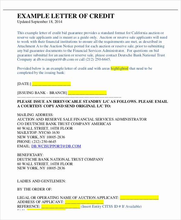 Letter Of Guarantee Template Best Of 54 Guarantee Letter Samples Pdf Doc