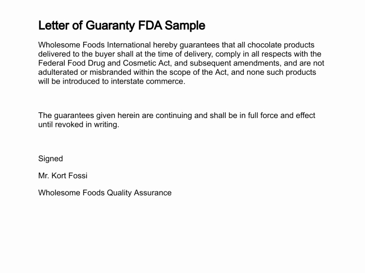 Letter Of Guarantee Template Best Of Letter Of Guaranty