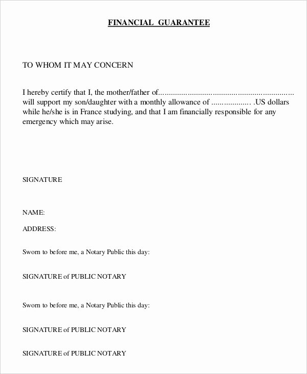 Letter Of Guarantee Template Luxury 21 Sample Letters Of Guarantee Pdf Word Apple Pages
