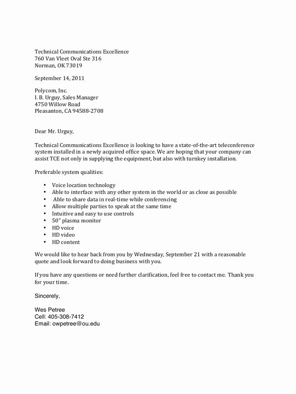 Letter Of Inquiry Template Inspirational Letters and Memo Examples by Wes Petree Letter Of
