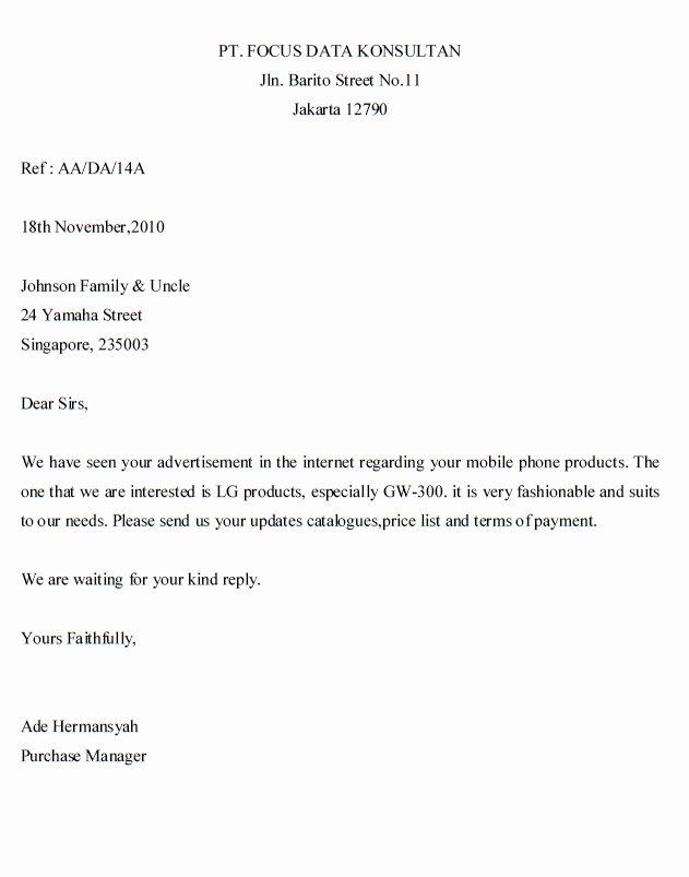 Letter Of Inquiry Template Unique اهلا و سهلا في آخربلدي Inquiry Letter