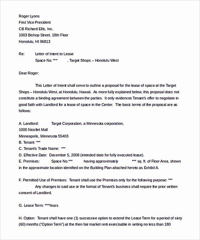 Letter Of Intent Template Word Awesome Make the Letter Of Interest Worth Reading
