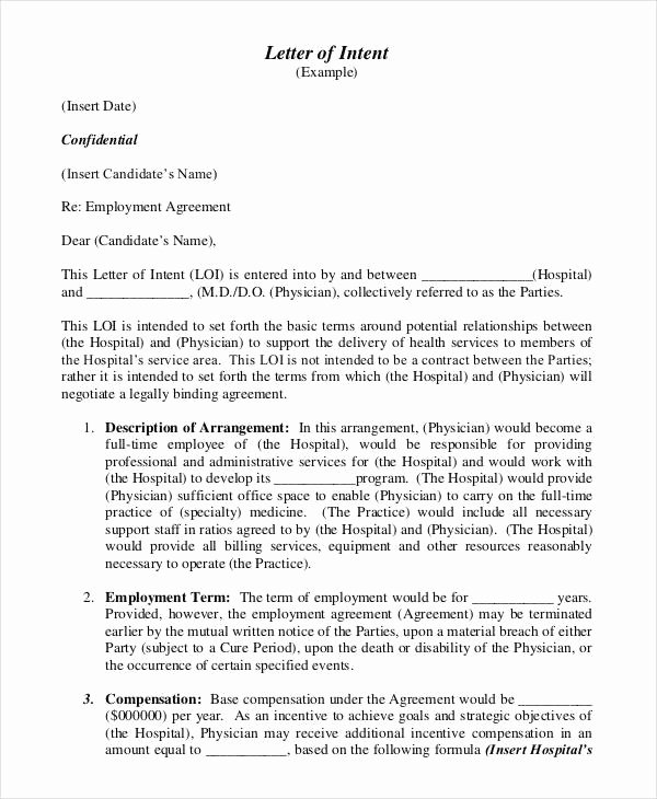 Letter Of Intent Template Word Best Of 39 Letter Of Intent Templates Free Word Documents
