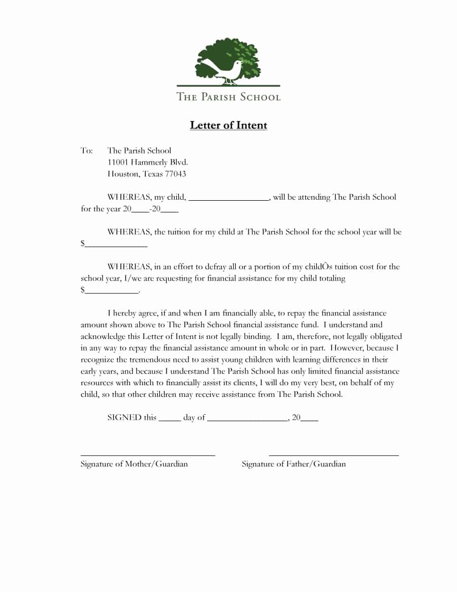Letter Of Intent Template Word Inspirational 11 Letter Of Intent Templates