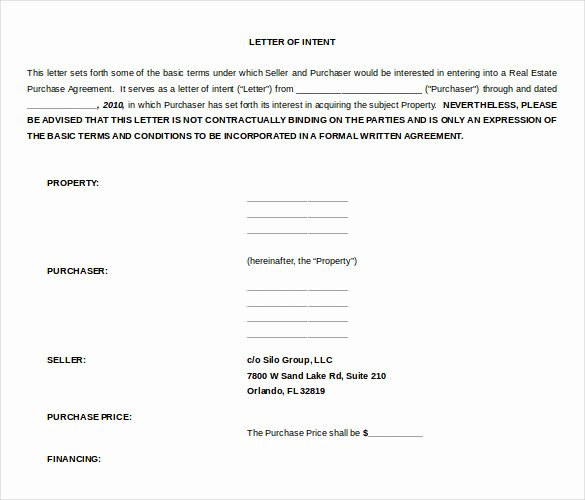 Letter Of Intent Template Word Luxury 13 Word Letter Of Intent Templates Free Download