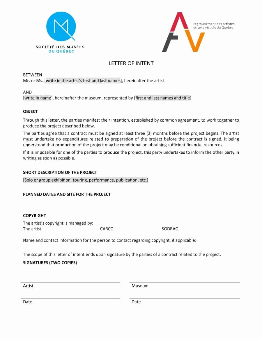 Letter Of Intent Template Word New 11 Letter Of Intent Templates