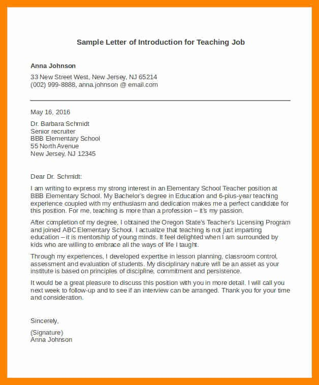 Letter Of Introduction Template Best Of 15 Introduction Letter for A Job