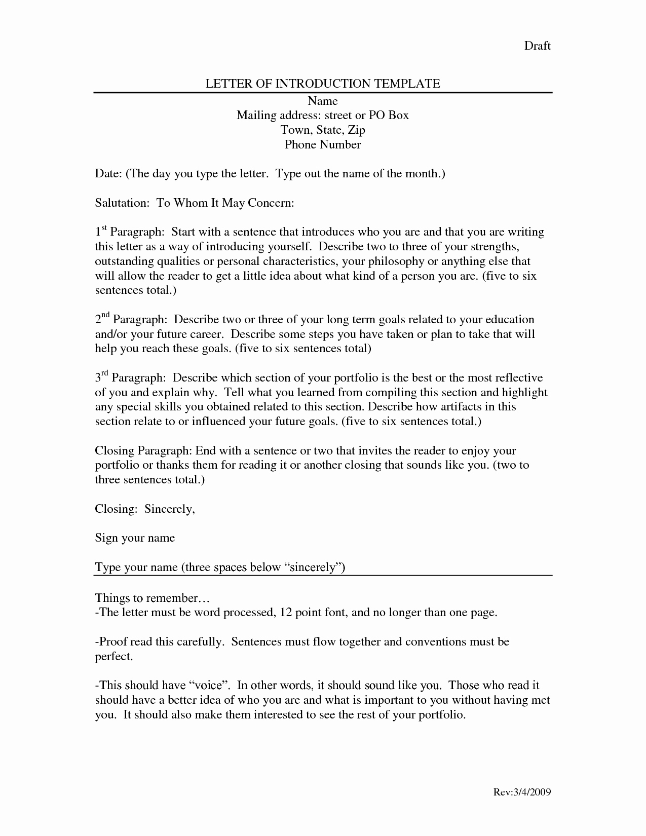 Letter Of Introduction Template Fresh Letter Introduction Template Dancingmermaid Yfzce92i