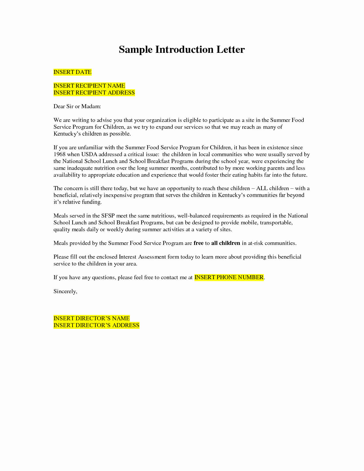 Letter Of Introduction Template Luxury Letter Intruduction