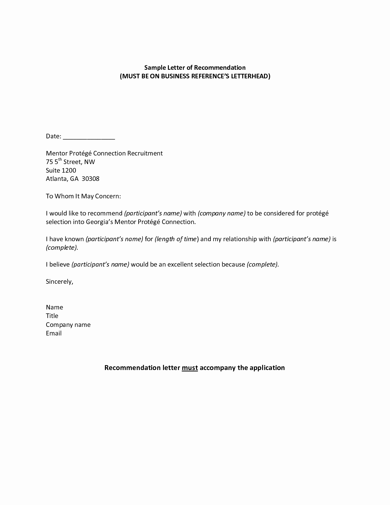 Letter Of Recommendation Template Elegant Professional Reference Sample Re Mendation Letter Jos