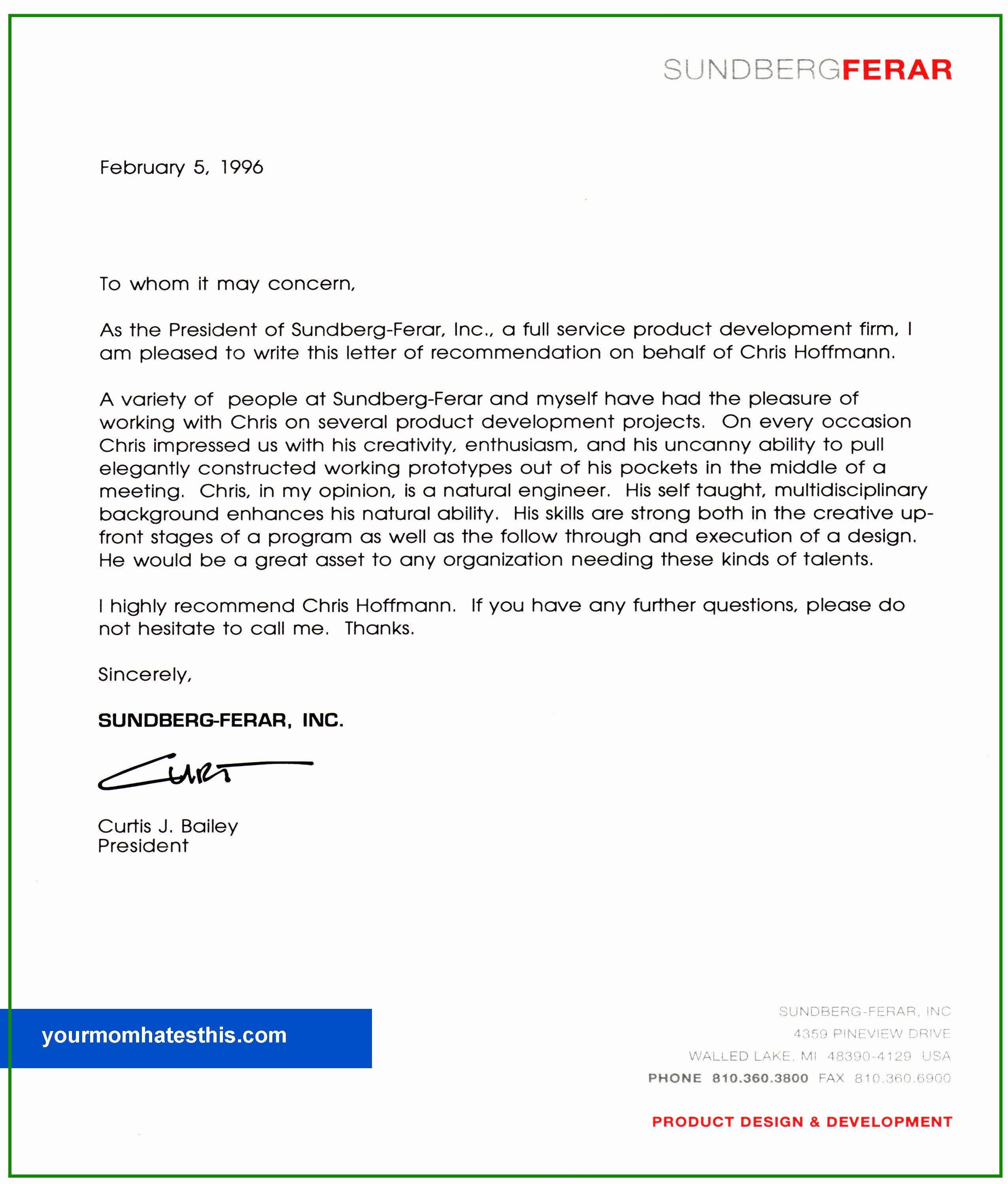 Letter Of Recommendation Templates Inspirational Download Letter Of Re Mendation Samples