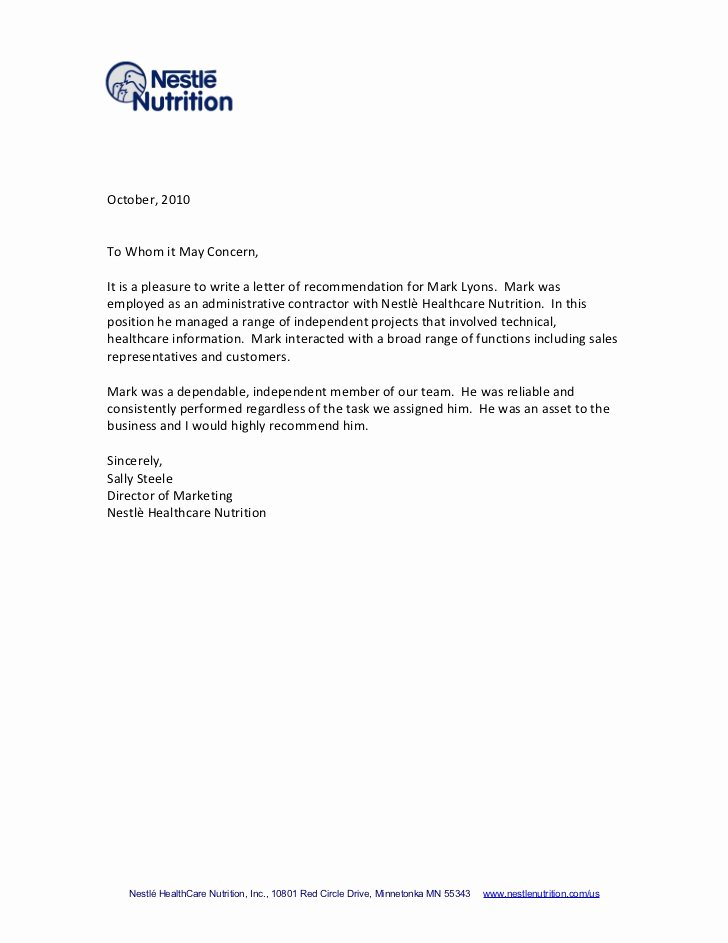 Letter Of Recommendation Templates Lovely Tips for Writing A Letter Of Re Mendation