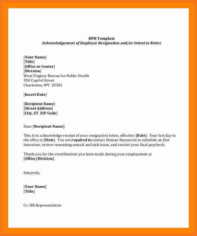Letter Of Retirement Template New 4 5 Employment Resignation Letter