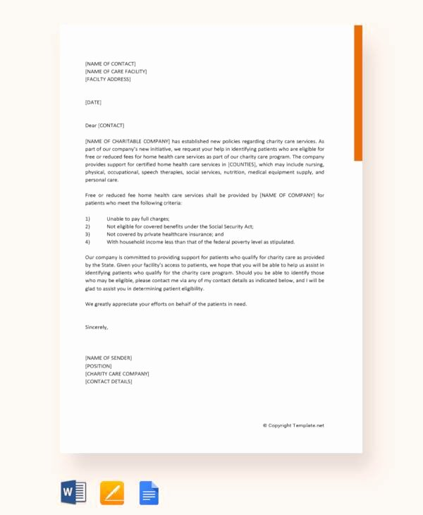 Letter Of Support Template Inspirational Free11 Letter Of Support Templates In Free Samples