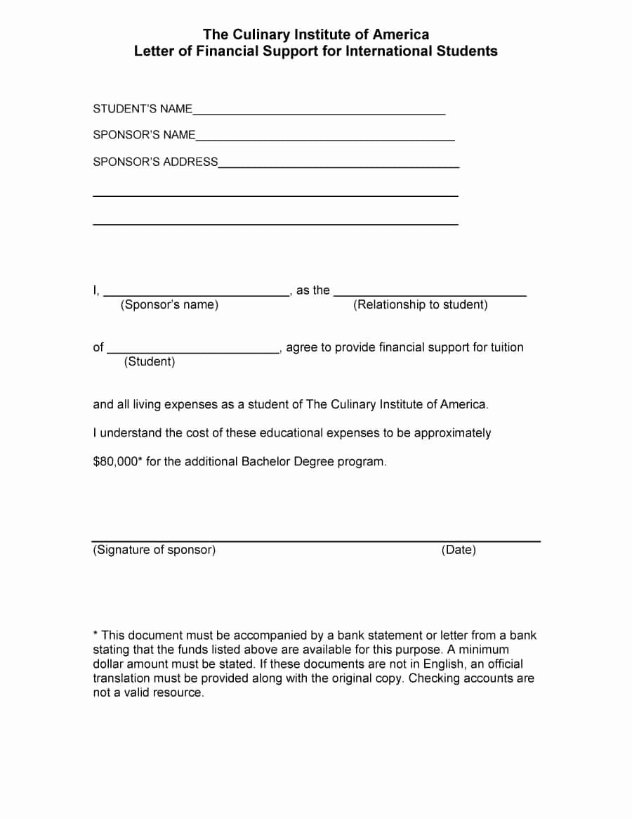 Letter Of Support Templates Elegant 40 Proven Letter Of Support Templates [financial for
