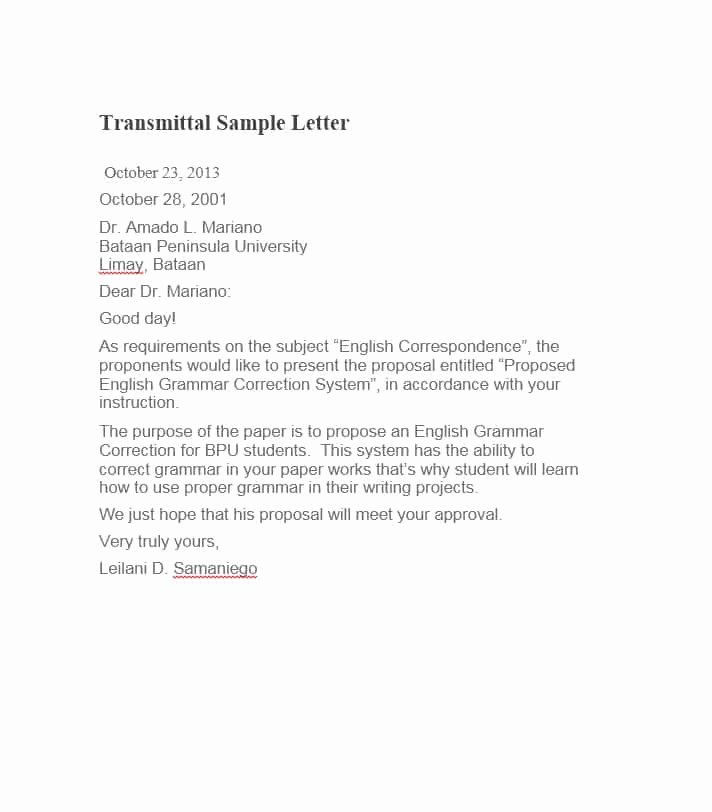 Letter Of Transmittal Template Construction Beautiful Letter Of Transmittal 40 Great Examples & Templates