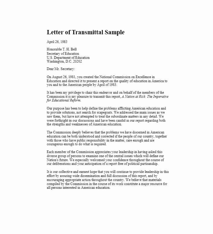 Letter Of Transmittal Template Construction Elegant Letter Of Transmittal 40 Great Examples & Templates