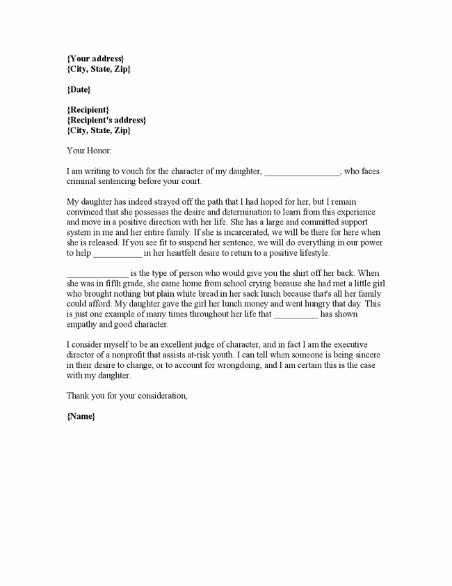 Letter to Court Template Awesome Letter Of Re Mendation to the Court Samples Yahoo