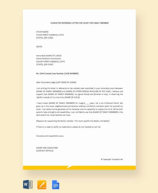 Letter to Court Template Beautiful 11 Character Letter Templates for Court Pdf Word