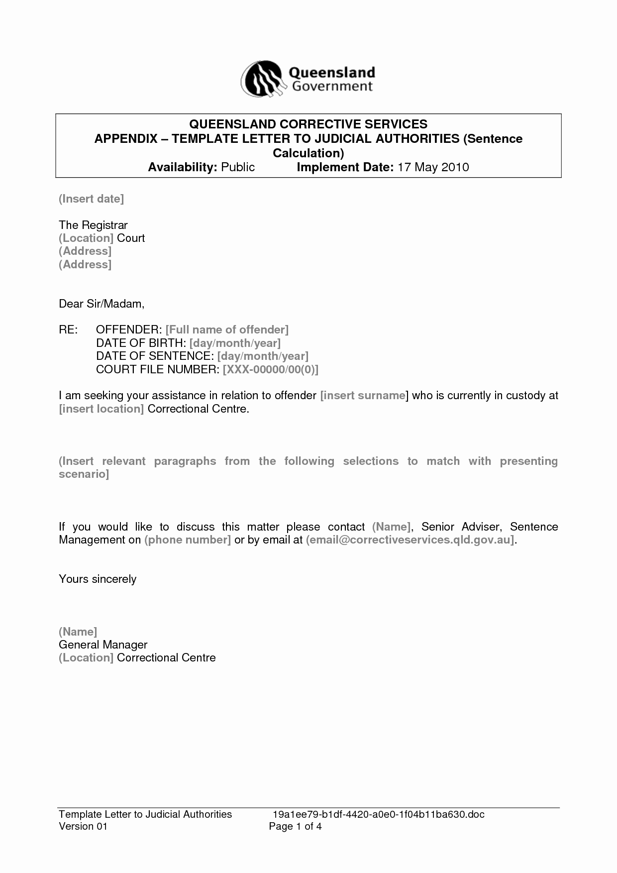 Letter to Court Template Inspirational Best S Of Sample Letter Court Judge Sample Leniency