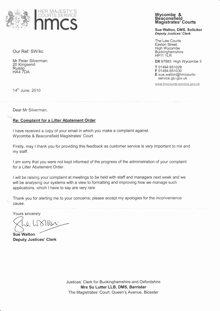 Letter to Court Template Inspirational M40 Court Letter 14th June 2010