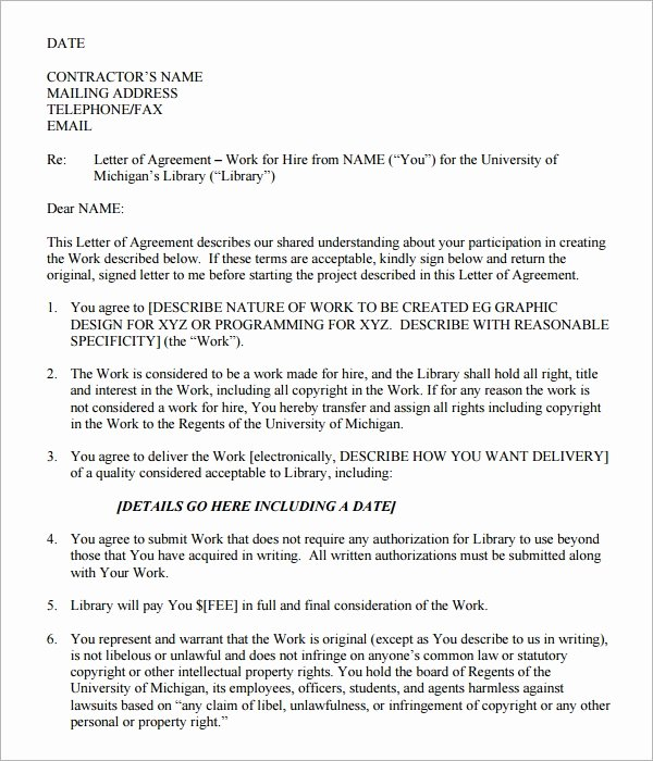 Letters Of Agreement Templates Best Of Letter Of Agreement 14 Download Free Documents In Pdf Word