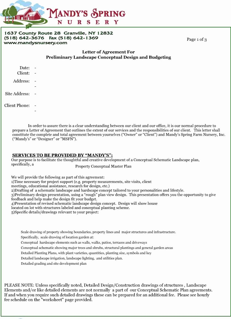 Letters Of Agreement Templates Fresh Letter Agreement Free Printable Documents
