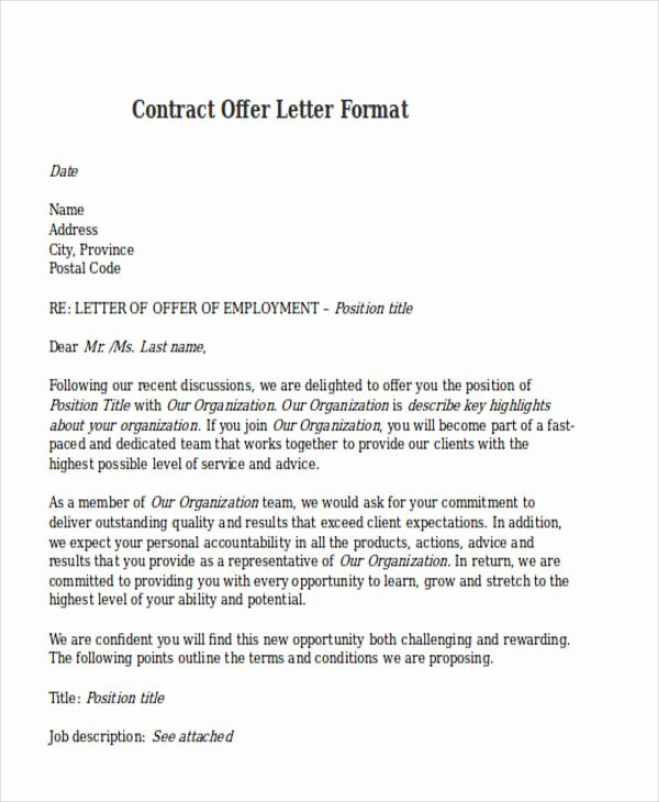 Letters Of Agreement Templates Inspirational Contract Fer Letter Templates 9 Free Word Pdf format