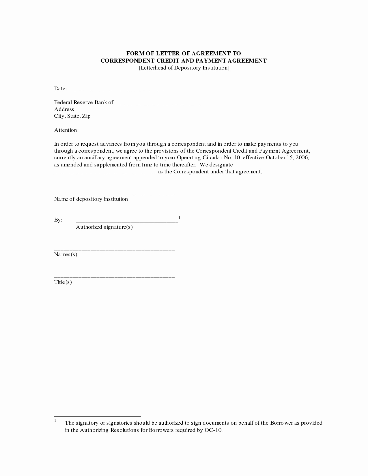 Letters Of Agreement Templates New Agreement Letter Free Printable Documents