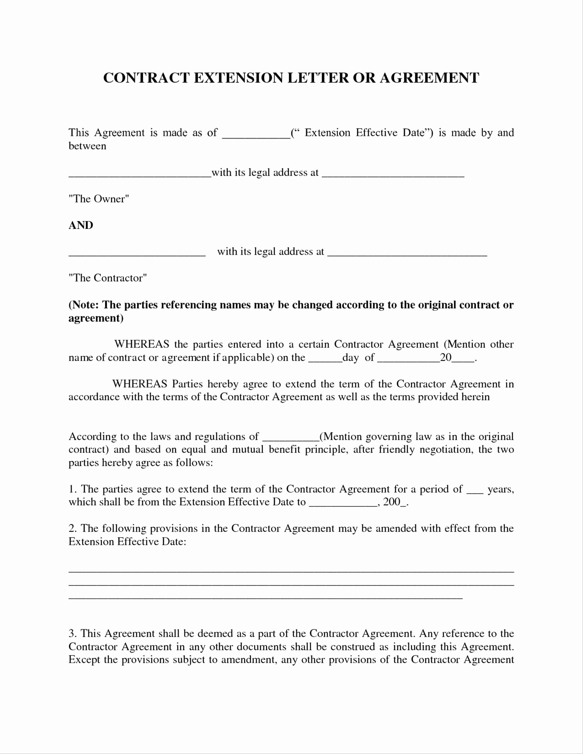 Letters Of Agreement Templates Unique Letter Agreement Template Between Two Parties Examples