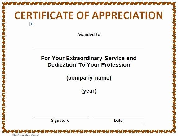 Letters Of Appreciation Template Elegant 31 Free Certificate Of Appreciation Templates and Letters