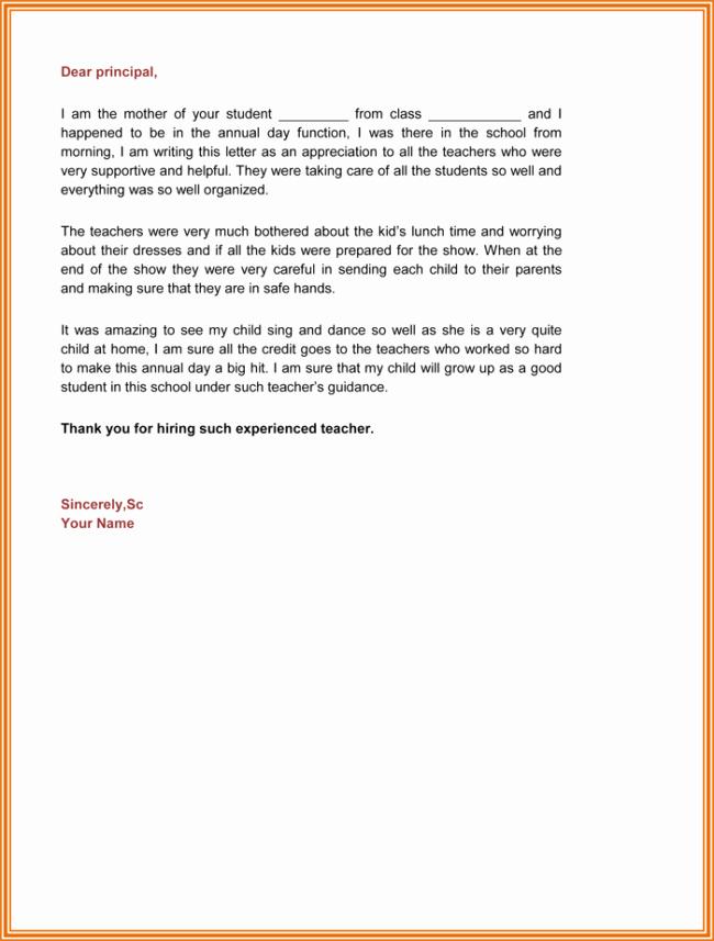 Letters Of Appreciation Template Fresh Appreciation Letter 5 Plus Printable Sample Letters