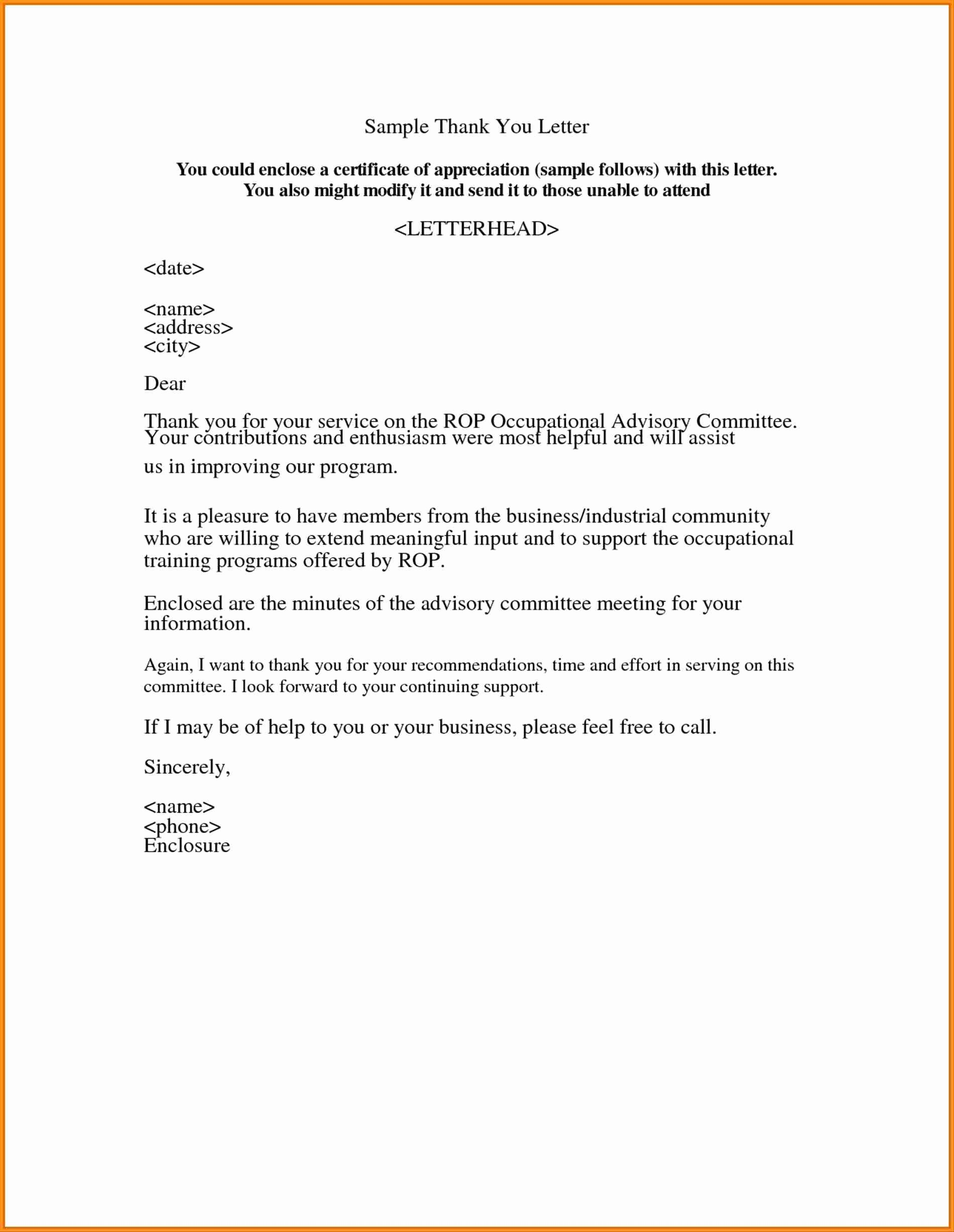 Letters Of Appreciation Template Lovely 9 Example Of Letter Of Appreciation