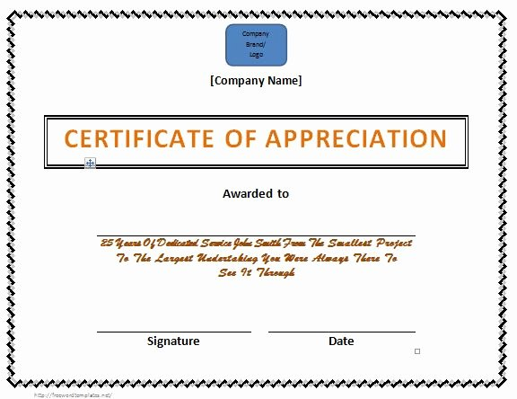 Letters Of Appreciation Templates Best Of 30 Free Certificate Of Appreciation Templates and Letters