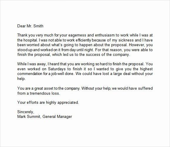 Letters Of Appreciation Templates Elegant Free 9 Appreciation Letters In Free Samples Examples format