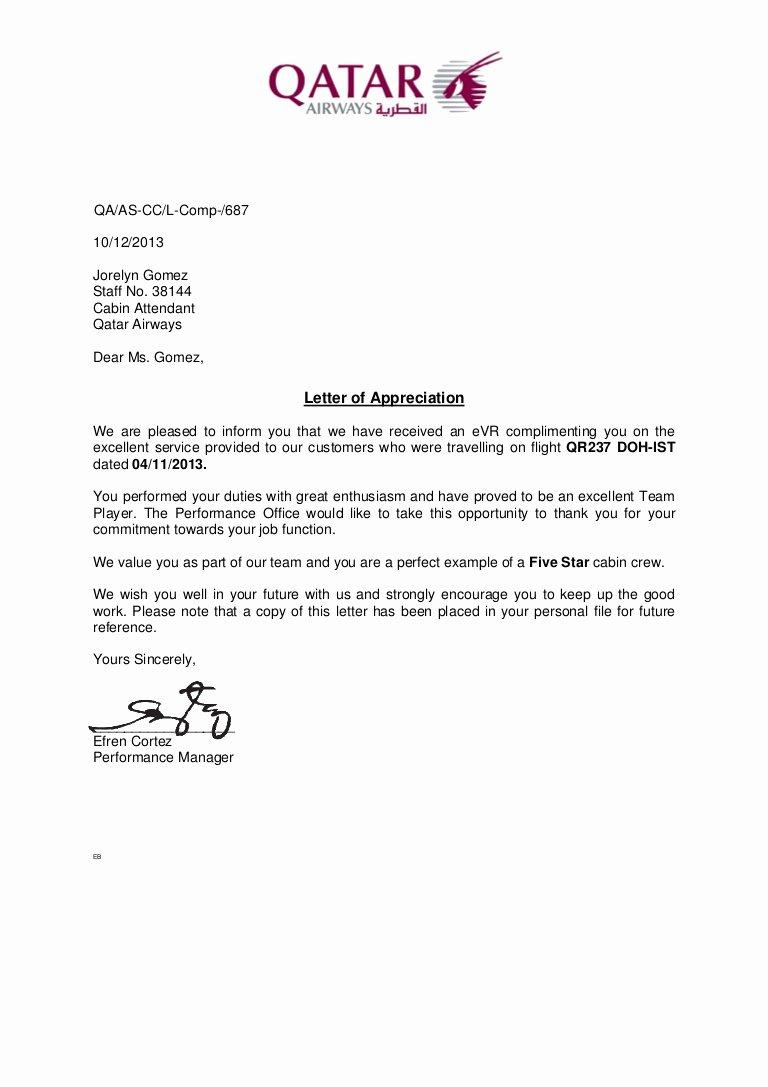 Letters Of Appreciation Templates Elegant Letter Of Appreciation 2013nov04