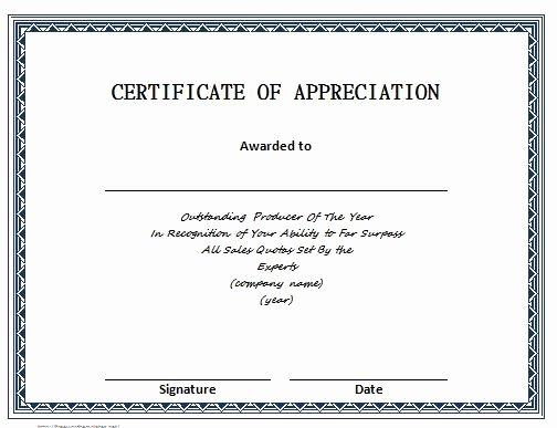 Letters Of Appreciation Templates Inspirational 31 Free Certificate Of Appreciation Templates and Letters
