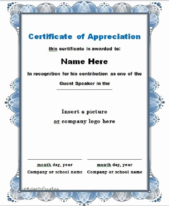 Letters Of Appreciation Templates Lovely 30 Free Certificate Of Appreciation Templates and Letters