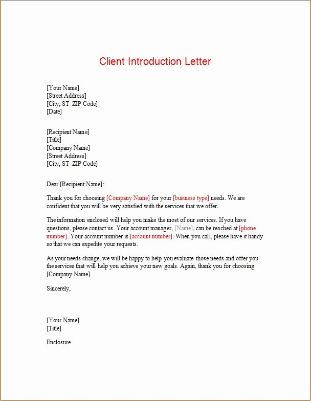 Letters Of Introduction Templates Luxury Introductory Letter Templates