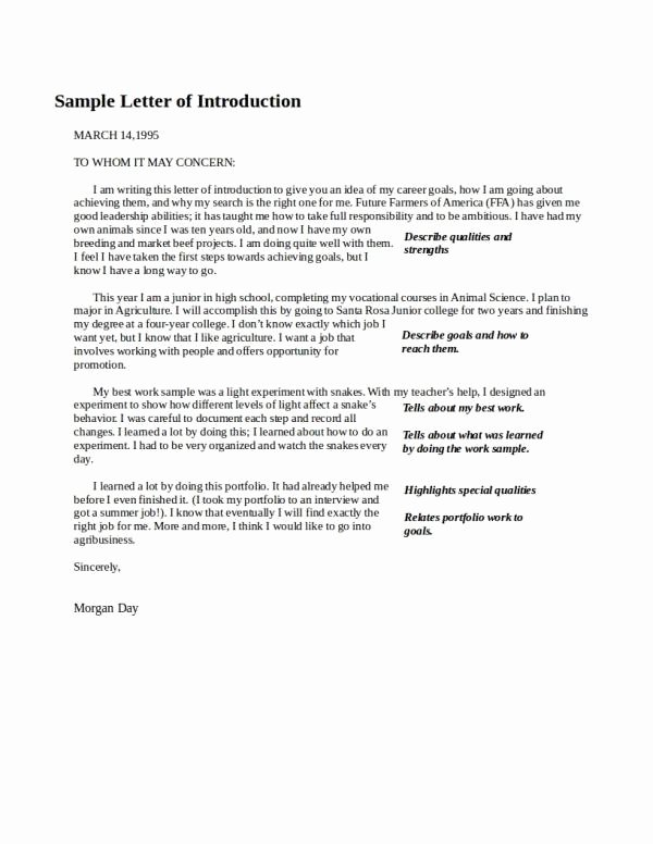 Letters Of Introduction Templates New Free 37 Introduction Letter Examples In Pdf