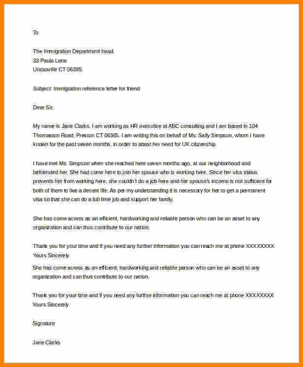 Letters Of Support Template Awesome 5 Immigration Letter Of Support for A Friend