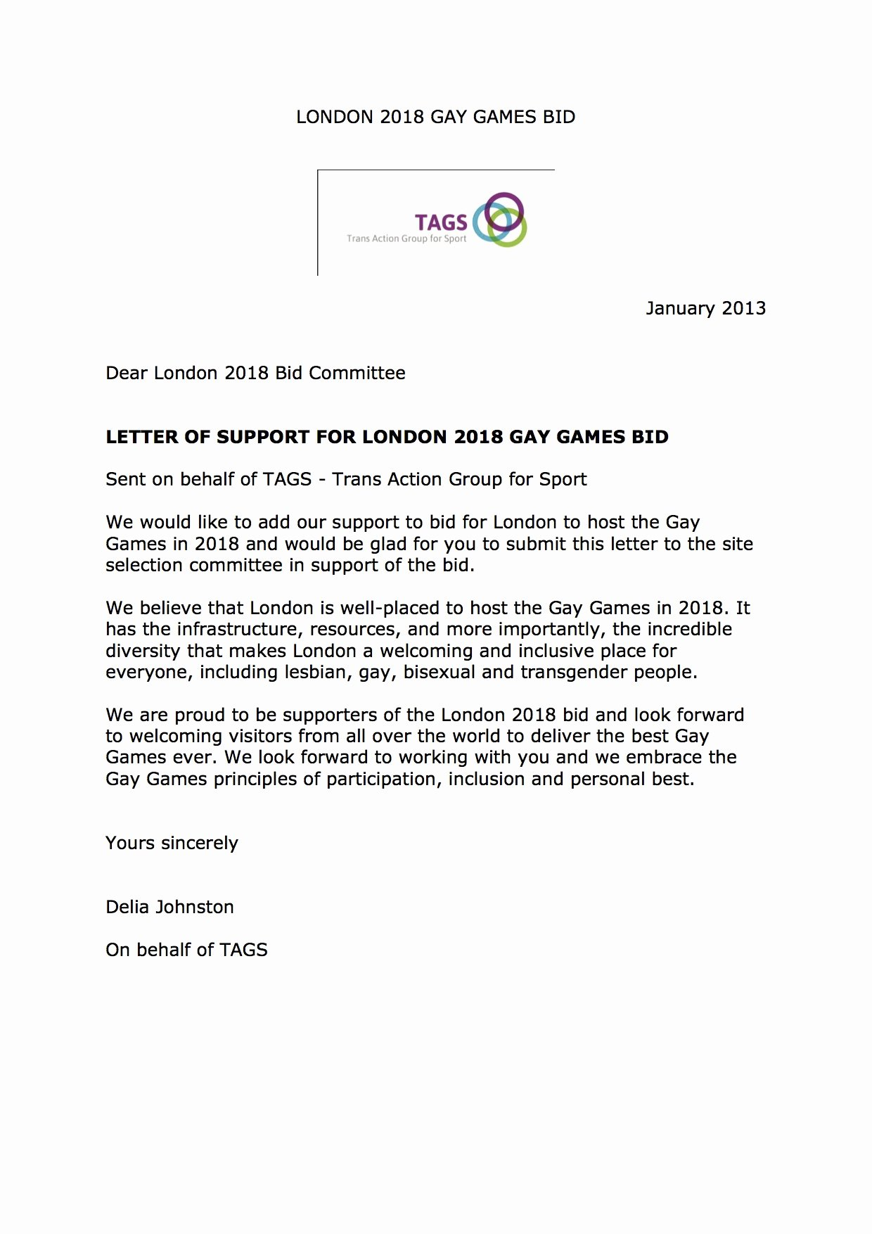 Letters Of Support Template Best Of Trans Action Group for Sport Letter Of Support