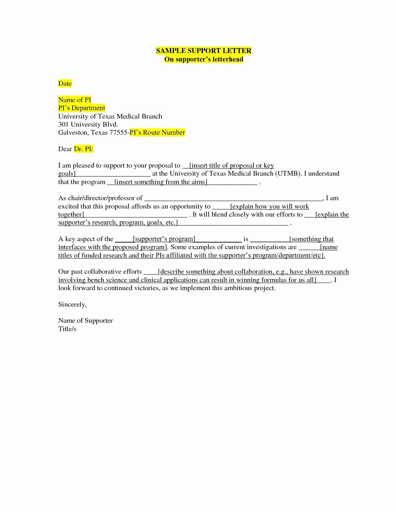 Letters Of Support Template Elegant Valid Parole Board Letter format