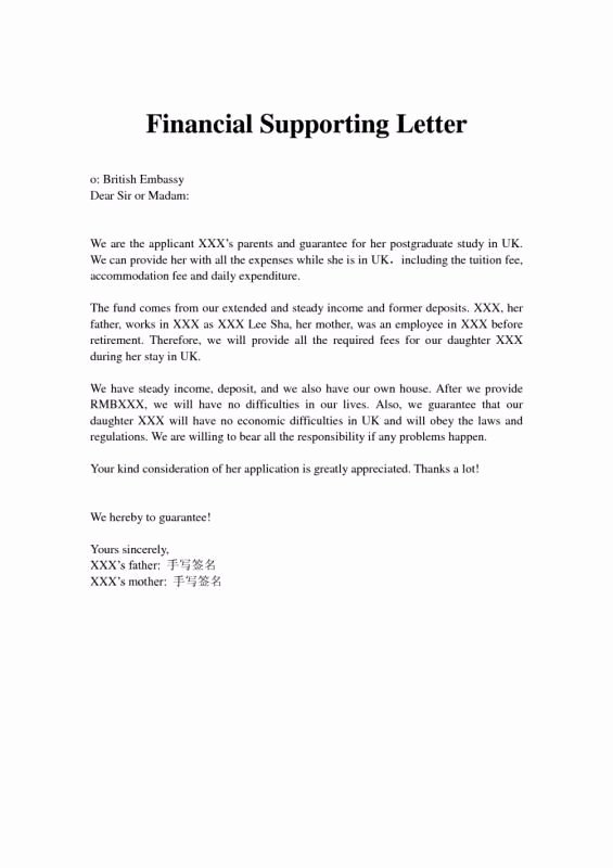 Letters Of Support Template New Immigration Letter Support for A Family Member